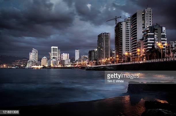 Corniche at sunset, Beirut, Lebanon