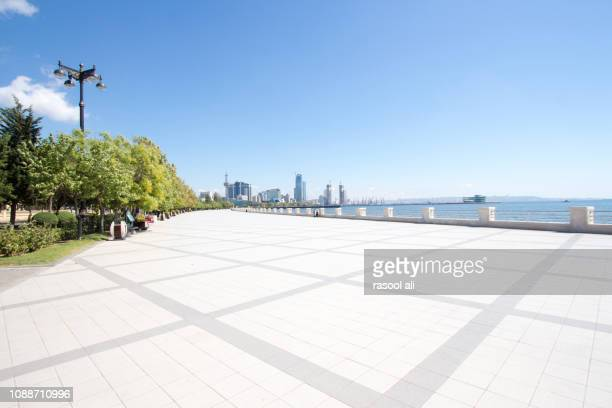 corniche boulevar - pedestrian walkway stock pictures, royalty-free photos & images