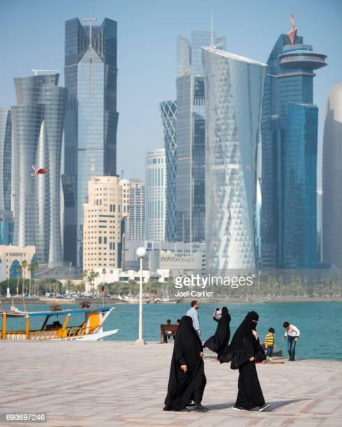 Corniche life in Doha, Qatar