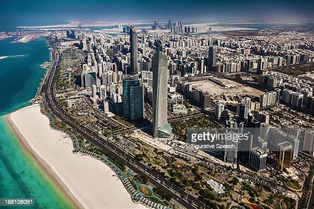corniche road - abu dhabi - abu dhabi stock pictures, royalty-free photos & images