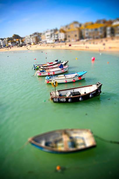 Cornish Fishing boats in miniature