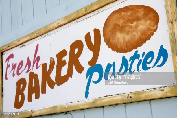 Cornish pasties sign at Grand Marais.