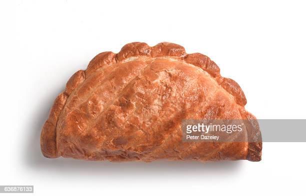 cornish pasty close up - cornish pasty stock-fotos und bilder