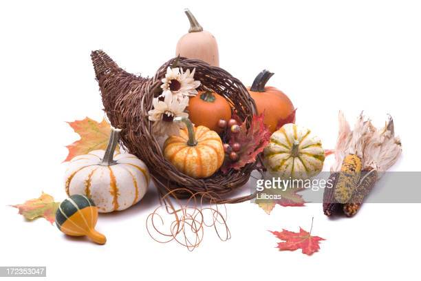 cornucopia (xl) - indian corn stock photos and pictures