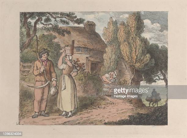 Cornwall An Overlooker from Views in Cornwall 1812 Artist Thomas Rowlandson