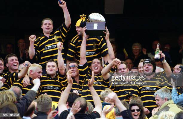 Cornwall's Dean Shipton lifts the Tetley's Bitter Trophy Cornwall defeated Gloustershire in the Tetley's Bitter County Championship Final at...