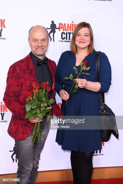 Corny Littmann and Katharina Fegebank during the opening of the 'Udo Lindenberg Experience Panik City' on the Reeperbahn on March 19 2018 in Hamburg...