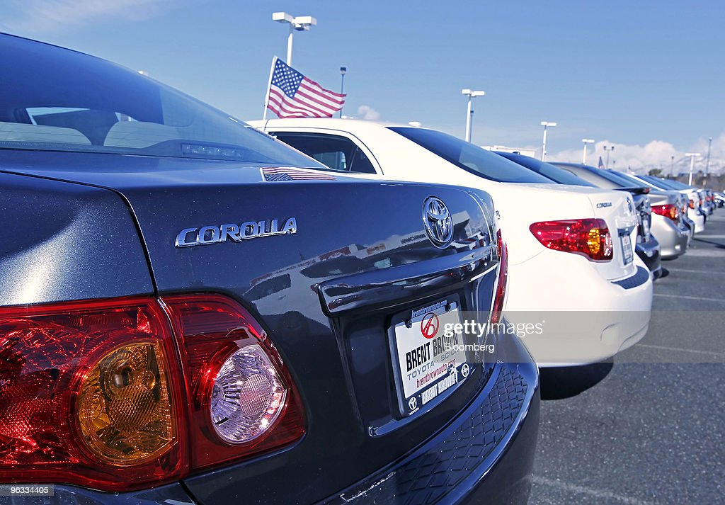 a corolla sits on the lot of brent brown toyota in orem utah u s news photo getty images. Black Bedroom Furniture Sets. Home Design Ideas