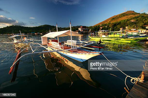 coron sunset - palawan island stock pictures, royalty-free photos & images