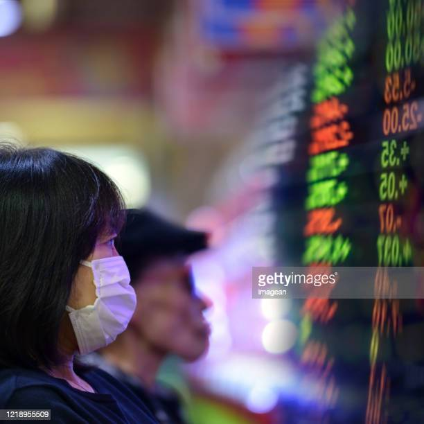 corona and stock market - japan economy stock pictures, royalty-free photos & images