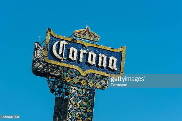 corona beer tower - mexican beer stock pictures, royalty-free photos & images