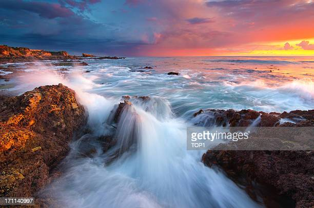corona del mar beach, ca - newport beach stock pictures, royalty-free photos & images