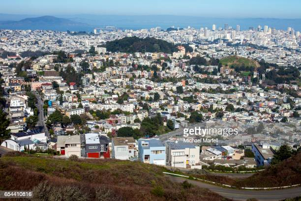 corona heights, san francisco - corona stock pictures, royalty-free photos & images
