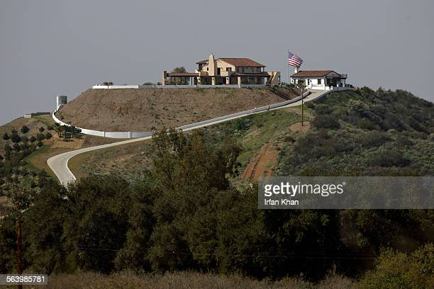 Corona March 04 2008 – – A huge house sits top of hill over looking Temescal Valley in Riverside County