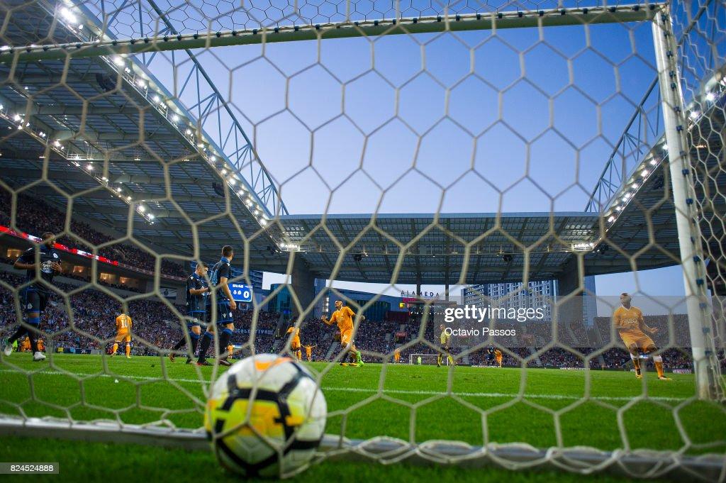 Corona of FC Porto scores the third goal during the Pre-Season Friendly match between FC Porto and RC Deportivo La Coruna at Estadio do Dragao on July 30, 2017 in Porto, Portugal.