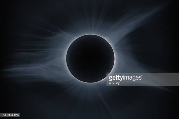 corona of the total solar eclipse of august 21, 2017 - corona sun stock pictures, royalty-free photos & images
