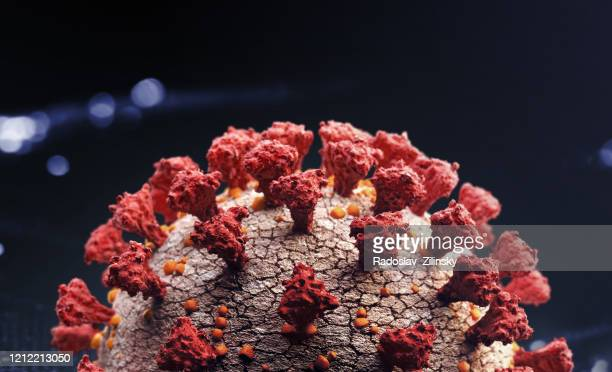 corona virus close up - coronavirus stockfoto's en -beelden