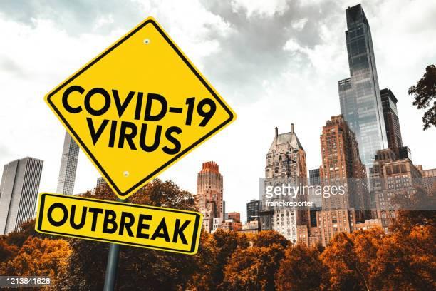 corona virus quarantine in nyc - corona landmarks stock pictures, royalty-free photos & images