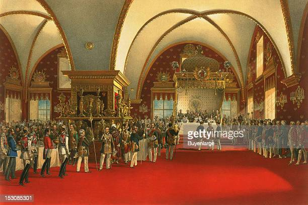 Coronation Banquet for Alexander II - 1856, 1856. By Vasily Timm.
