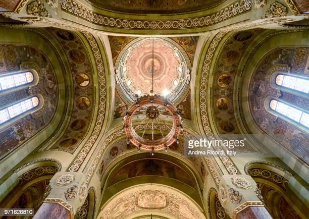 coronation cathedral interior, alba iulia, romania - baroque stock pictures, royalty-free photos & images