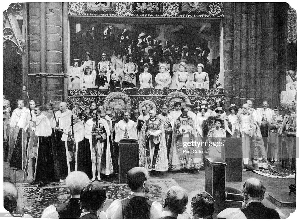 Coronation ceremony of George V, Westminster Abbey, London, 22 June, 1911.Artist: John Benjamin Stone : ニュース写真