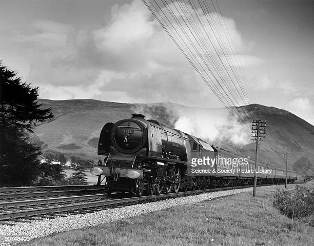 Coronation Class steam locomotive No 46221 'Queen Elizabeth' climbing Beattock Bank Photograph by Bishop Eric Treacy Treacy was often allowed special...