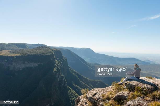 cânion índios coroados - rio grande do sul - brasil - planalto - fotografias e filmes do acervo
