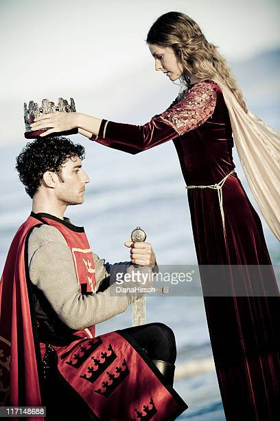 coronation king - medieval queen crown stock pictures, royalty-free photos & images