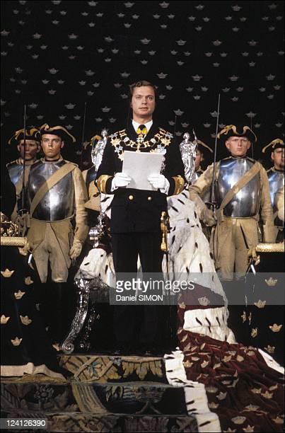 Coronation of King Carl Gustav in Stockholm Sweden on September 19 1973 Carl Gustav