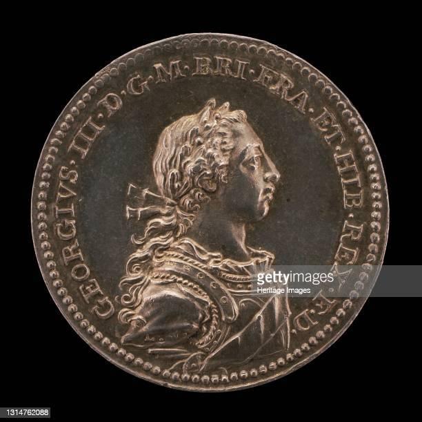 Coronation of King George III [obverse], 1761. Artist Johann Lorenz Natter.