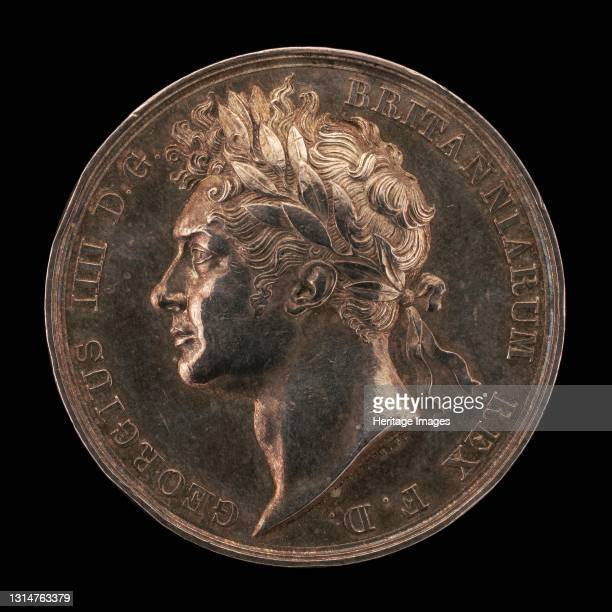 Coronation of King George IV [obverse], 1821. Artist Benedetto Pistrucci.