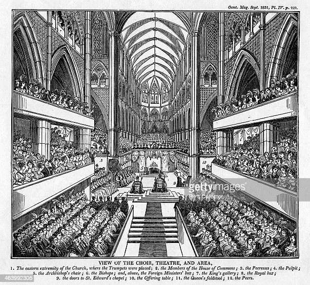 Coronation of King William IV and Queen Adelaide Westminster Abbey London 1831