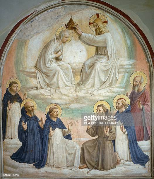 Coronation of the Virgin 14381447 by Giovanni da Fiesole known as Fra Angelico fresco Convent of San Marco Florence