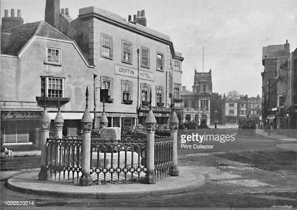 Coronation Stone and MarketPlace KingstononThames' circa 1896 From Pictorial England and Wales [Cassell and Company Limited London Paris Melbourne...