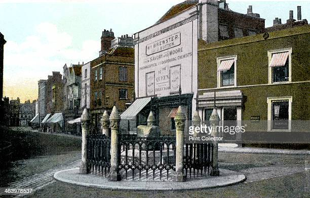 Coronation Stone Kingston upon Thames London 20th Century Seven Saxon kings are sain to have been crowned whilst seated upon this stone which today...