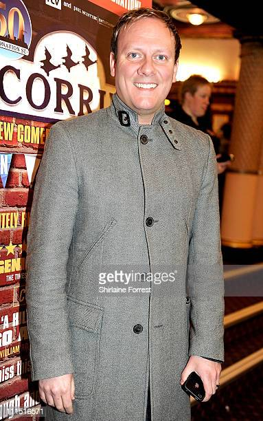 'Coronation Street' actor Antony Cotton attends the press night of 'Corrie The Play' at Manchester Palace Theatre on April 4 2011 in Manchester...