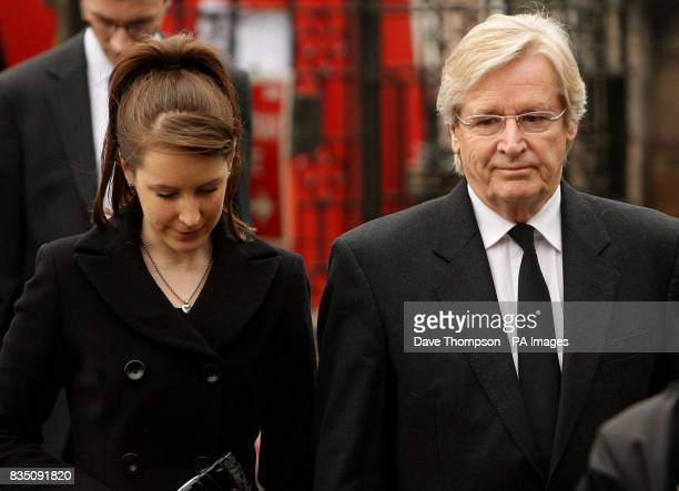 Coronation Street actor Bill Roache and daughter Verity arrive for a memorial service for his wife Sara, at St Bartholomew's Church, Wilmslow,...