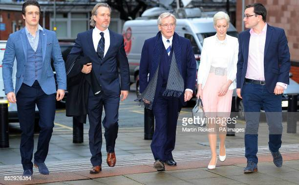 Coronation street actor Bill Roache arrives at Preston Crown Court with sons James Linus and daughter Veritywhere he faces two counts of raping a...
