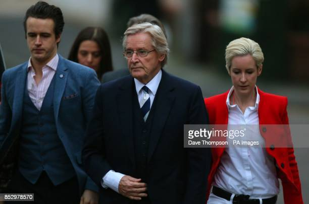 Coronation street actor Bill Roache arrives at Preston Crown Court with son James left and daughter Verity Roache denies two counts of raping a...