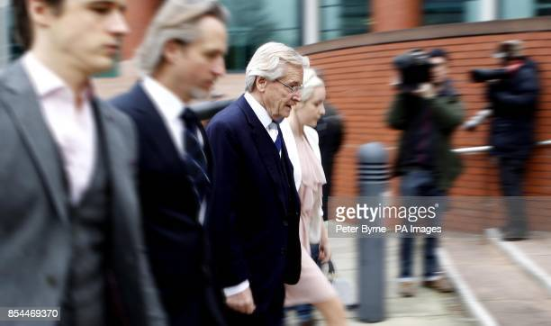 Coronation Street actor Bill Roache arrives at Preston Crown Court with his sons James Linus and daughter Verity where he denies two counts of raping...