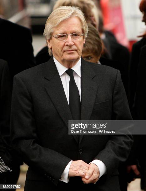 Coronation Street actor Bill Roache arrives for a memorial service for his wife Sara at St Bartholomew's Church, Wilmslow, Cheshire.