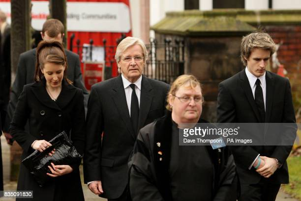 Coronation Street actor Bill Roache arrives with daughter Verity and son William for a memorial service for his wife Sara at St Bartholomew's Church...