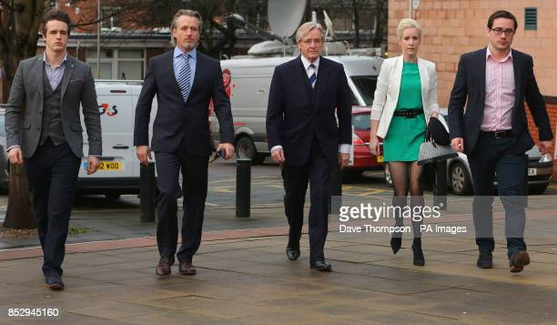Coronation street actor Bill Roache of Wilmslow Cheshire arrives at Preston Crown Court with sons James Linus and daughter Verity where he denies two...
