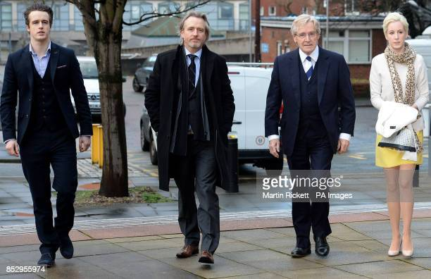 Coronation street actor Bill Roache of Wilmslow Cheshire arrives with his sons James Linus and daughter Verity at Preston Crown Court where he denies...