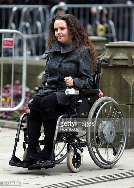 Coronation Street actor cherylee houston arrives for the funeral of Coronation Street scriptwriter Tony Warren at Manchester Cathedral on March 18...