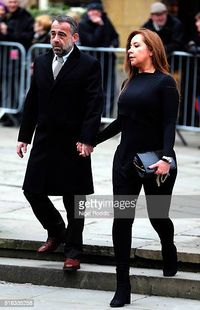 Coronation Street actor Michael Le Vell arrives for the funeral of Coronation Street scriptwriter Tony Warren at Manchester Cathedral on March 18...