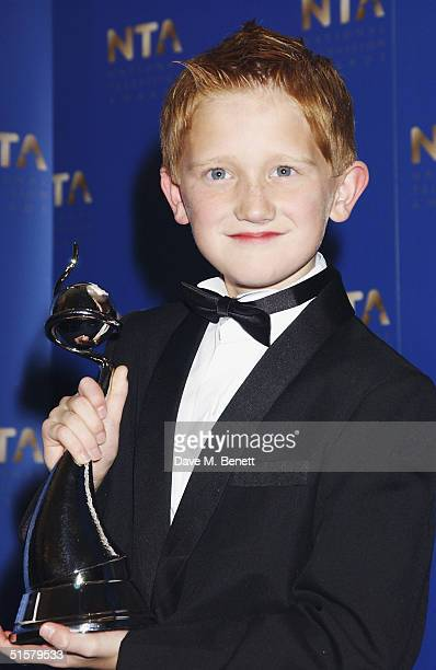 'Coronation Street' actor Sam Aston poses in the Awards Room with the award for Best Newcomer at the 10th Anniversary National Television Awards at...