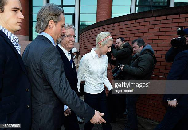 Coronation Street actor William Roache arrives at Preston Crown Court with his children James Roache Linus Roache and daughter Verity Roache for the...