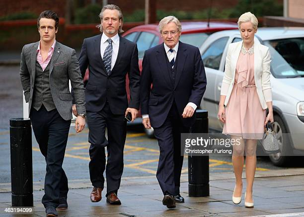 Coronation Street actor William Roache arrives at Preston Crown Court with his children James Roache, Linus Roache and daughter Verity Roache for the...