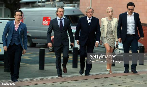 Coronation Street actor William Roache arrives at Preston Crown Court with with sons James Linus and daughter Verity